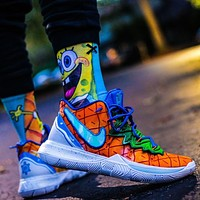 NIKE KYRIE 5 PINEAPPLE HOUSE breathable knitted cushioning basketball shoes