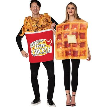 Bucket of Chicken and Waffle Couples Costume