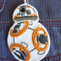 BB 8 droid from Star Wars iron-on patch/badge.
