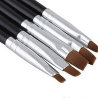 5PCS/Set Nail Art Acrylic UV Gel Salon Pen Flat Brush Kit Dotting Nail Art Tool = 1669409092