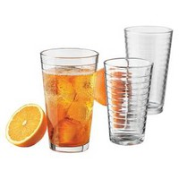 12-pc. Textured Glass Tumbler Set 10.5oz-16oz : Target