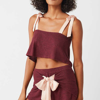 Out From Under Nova Satin Bow Short | Urban Outfitters