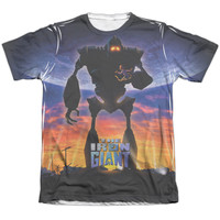 IRON GIANT/GIANT POSTER - ADULT 65/35 POLY/COTTON S/S TEE - WHITE -
