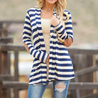 Easily Persuaded Cardigan - Navy