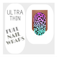 Nail Wraps Ultra Thin Nail Decal Wraps 18 Leopard Water Slide Decals Nail Decal Nail Art Tattoos