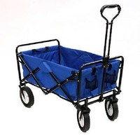 NEW PORTABLE FOLDING FOLDABLE BLUE WAGON SPORTS CAMPING BEACH GROCERIES YARD