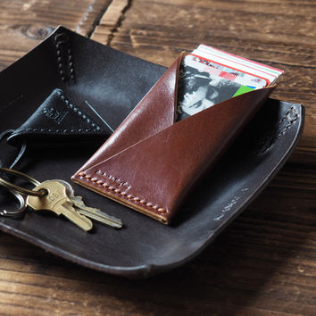 Leather Card Holder #Whiskey Brown