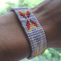 Genuine Navajo Beaded Arrow Bracelet FESTIVAL Fashion Boho Bracelet Southwestern Aztec