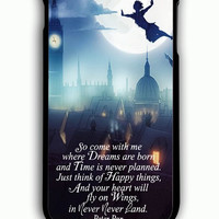 iPhone 6 Plus Case - Rubber (TPU) Cover with peter pan quote Rubber Case Design