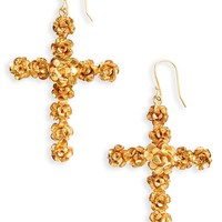 Virgins Saints & Angels Rose Cross Drop Earrings | Nordstrom