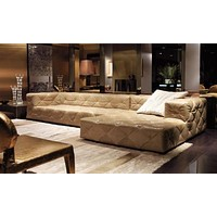 Luxury Light Leather Living Room Sectional Sofa