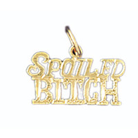 14K GOLD SAYING CHARM - SPOILED BITCH #10658