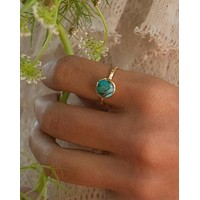 Bianca Ring - Gold Vermeil - copper turquoise(BJR008)
