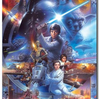 Star Wars – 30th Saga Collage Movie Poster 22x34 RP9940 Used