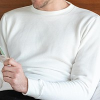 White Tri-Blend Terry Crewneck Sweatshirt