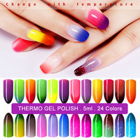 5ml Temperature Change UV Nail Gel Polish Thermo Gel Polish Gel Nail Chameleon Color Changing Nail Polish Gelpolish Nails ZJJ007