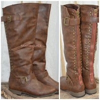 Canyon Excursion Brown Studded Boots