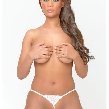 Micro Crotchless G-String With Beads