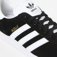 adidas Women's Black and White Gazelle Sneakers