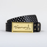 OG Script Bar Belt in Silver