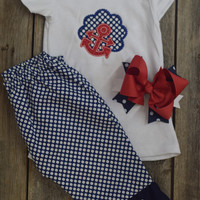 Anchor Outfit by Mandy Lou {Red/Navy/White}