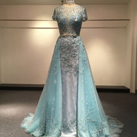 Short sleeve ball gown for the Mother of the bride by Darius Designs
