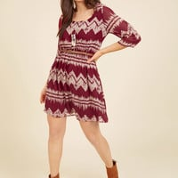 Mountain Dwelling Dress in Burgundy | Mod Retro Vintage Dresses | ModCloth.com