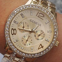 Geneva Women Rhinestone Watches Ladies Fashion Watch Luxury Diamond Women Dress Quartz Watches Relogios Femininos BD-49 = 1956865796