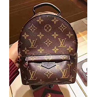 LV Louis Vuitton LV Hot Sale Classic Woman Men Leather Travel Bookbag Shoulder Bag Backpack