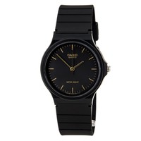 Casio MQ24-1E Men's Classic Casual Black Dial Black Resin Strap Watch