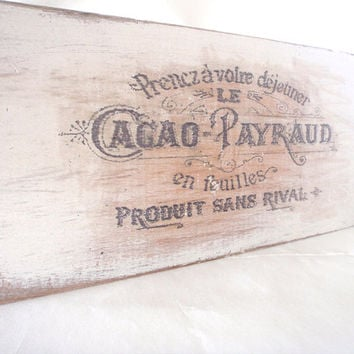 Vintage French ad, home decor, bathroom decor, french signs, shabby chic, primitive sign, FREE SHIPPING