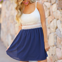 A Walk To Remember Dress - Navy