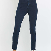 BDG Hub Ultra High-Waisted Blue Skinny Jeans - Urban Outfitters