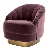 Purple Upholstered Barrel Chair | Eichholtz Hadley