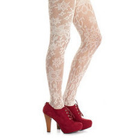 Floral Crochet Fashion Tight: Charlotte Russe