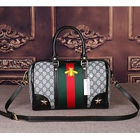 Perfect Gucci Women Leather Multicolor Luggage Travel Bags Tote Handbag