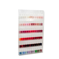 "72 Bottles Clear Acrylic Nail Polish Organizer Salon Wall Display Rack 24"" x 14"""