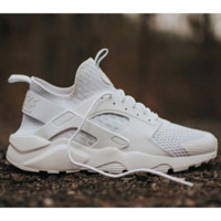 """NIKE""AIR Huarache Running Sport Casual Shoes Sneakers white"
