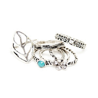 Rebel Heart Silver Ring Set