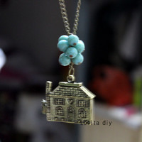 Movie house jewelry necklace, alloy necklace, dream necklace, graduation, friendship gift