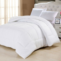 Twin size White Down Alternative Comforter in Cotton Poly Blend MIcrofiber