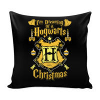 I'm Dreaming Of A Hogwarts Christmas Festive Funny Ugly Christmas Holiday Sweater Decorative Throw Pillow Cases Cover(4 Colors)
