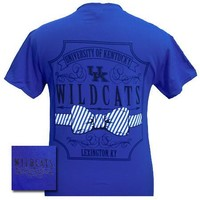 SALE UK Kentucky Wildcats Big Blue Prep Pattern Bow Girlie Bright T Shirt