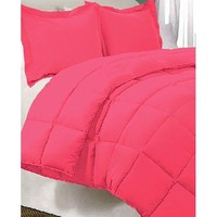 Pink Twin Extra Long Down Alternative Comforter Set By Ivy Union, Twin XL