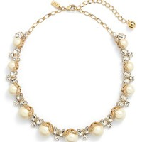 kate spade new york 'bouquet' faux pearl collar necklace | Nordstrom