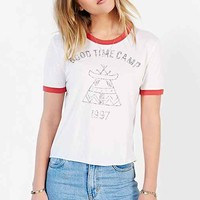 Truly Madly Deeply Goodtime Camp Ringer Tee- White