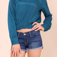 Decker Blue Jewel Blouse