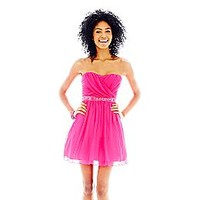 City Triangles® Strapless Tulle Dress