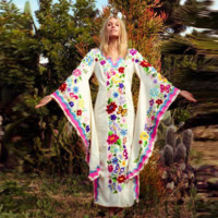 Bohemian Evening Dress With Butterfly Prints Autumn nd Winter Dresses