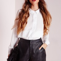 Missguided - PU Tailored Shorts Black